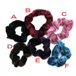 Elastic Hair Band 8cm Plush Color Mix Model 9