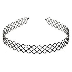 Tiara metal 18 mm black