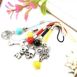 Κορδόνι κινητού θιβετιανό στυλ 90 ~ 120 mm διάφορα χρώματα και σχέδια