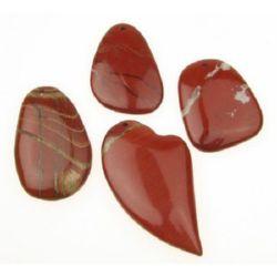 Висулка естествен камък ЯСПИС червен 45~59 мм