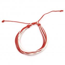 Гривна мартеница шнур памучен -10 броя