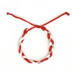 Brățară martenitsa cordon de mătase șchiop tricotat 10 bucăți