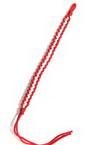Гривна копринен шнур бяло и червено зиг-заг -10 броя