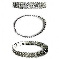 Гривна БИЖУ метал имитация диамант -3реда