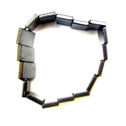 Βραχιόλι από φυσική πέτρα μαγνητικού αιματίτη 10x18 mm