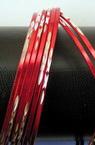 Гривна метал бяло и червено 70 мм -10 броя 2