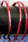 Гривна метал бяло и червено 70 мм -5 броя 3