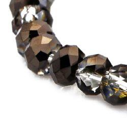 Margele de  cristal 4x3 mm orificiu 1 mm RAINBOW galvanizat pe jumătate negru ~ 150 bucăți