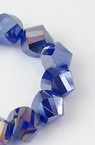 Наниз мъниста кристал 10 мм дупка 1 мм галванизиран лилав ~72 броя цвят