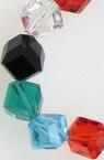 Наниз мъниста кристал 7 мм дупка 1.5 мм галванизиран прозрачен МИКС ~35 броя