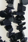 BLUE GOLDSTONE Gemstone Chip Beads Strand 5-7mm, ~ 90cm