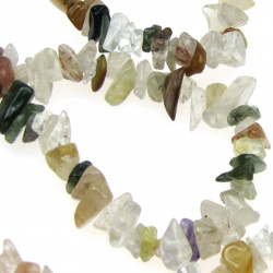 AGATE Chip Beads Strand 5-7mm, ~ 90cm