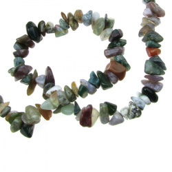Gemstone Chip Beads Strand  5-7mm, ~ 90cm AGATE