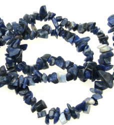 SODALITE  Gemstone Chips Strand 5-7mm ~ 90cm
