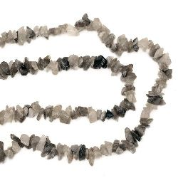 Gemstone Chip Beads Strand, 5-7mm, ~90cm