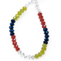 Crystal beads 4 x 3 mm - MIX