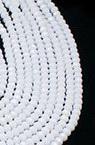 Наниз мъниста кристал 8x6 мм дупка 1 мм плътен бял ~72 броя