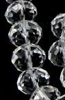 Наниз мъниста кристал 12x8 мм дупка 1 мм прозрачен ~72 броя