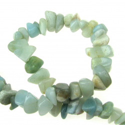 Șir cu pietre naturale de 8-12 mm ~ 90 cm AMAZONITE