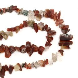 Șuvițe naturale pietre Stones 8-12mm ~ 90cm Pietre asortate