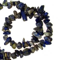 Șir  pietre naturale de 8-12 mm ~ 90 cm Lazurit