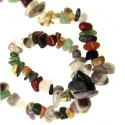 ASSORTED Gemstone Chip Beads Strand 8-12mm ~ 90cm