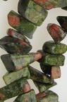 UNAKITE Chip Beads Strand 8-12 mm ~ 90 cm