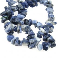 Наниз естествени камъни чипс 8-12 мм ~90 см СОДАЛИТ