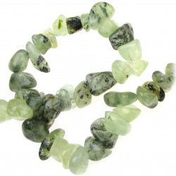 Наниз естествени камъни чипс 8-12 мм ~90 см ПРЕНИТ