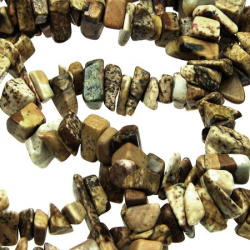Gemstone Chip Beads Strand 5-7mm, ~ 90cm JASPER
