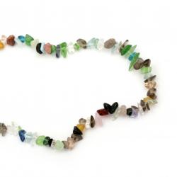 Наниз естествени камъни чипс 8-12 мм ~90 см Микс2