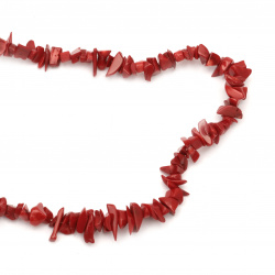String natural stone CORAL chips 8-12 mm ~ 80 cm  class A