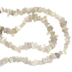Наниз полускъпоценни камъни чипс 5-7 мм ~90 см АХАТ