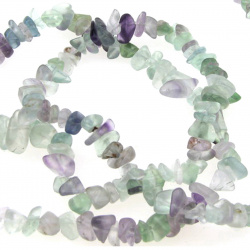 FLUORITE Gemstone Chip Beads Strand 5-7mm, ~ 90cm