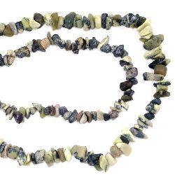 Șnur pietre semiprețioase așchii 5-7 mm ~ 90 cm JASPIS
