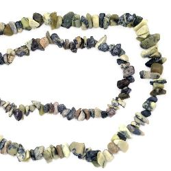 Наниз полускъпоценни камъни чипс 5-7 мм ~90 см ЯСПИС