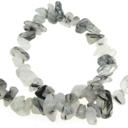 TOURMALINE QUARTZ Gemstone Chip Beads Strand 5-7 mm ~ 90 cm