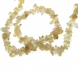 QUARTZ Gemstone Chip Beads Strand  5-7mm, ~ 90cm