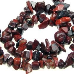 Наниз естествени камъни чипс 8-12 мм ~90 см ЯСПИС ~185 броя