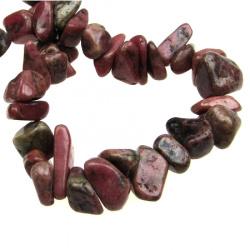 Șnuri de piatră naturală 8-12 mm ~ 90 cm RODOHROZIT