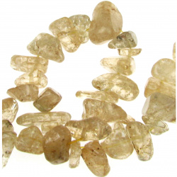Șnur de așchii de piatră naturală 8-12 mm ~ 90 cm CITRIN închis