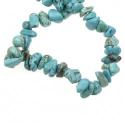 Наниз естествени камъни чипс 8-12 мм ±90 см ТЮРКОАЗ