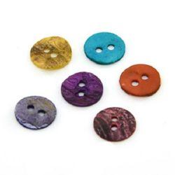 Копче седеф 10x1 мм дупка 1.5 мм -10 броя