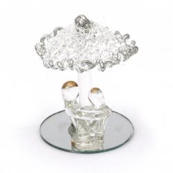 Стъклена фигурка влюбени 5.5 см