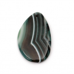Pendant natural stone Agate striped green 35 ~ 45x55 ~ 65 mm