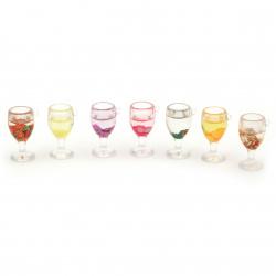 Висулка чаша резин с фимо 37x22.5x19 мм дупка 2 мм АСОРТЕ -1 брой