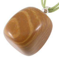 Висулка естествен камък ЯСПИС 20x19x16 мм дупка 7x3 мм