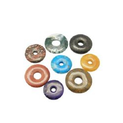 Semi-precious stone charm 20-25 mm  MIX