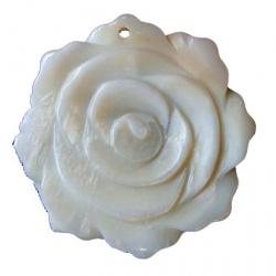 Висулка седеф цвете 36x36 мм