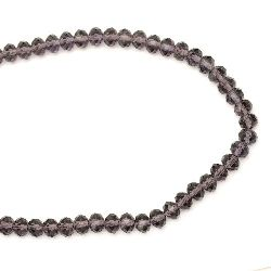 Glamorous crystal beads strand for jewelry making and DIY home art projects 8x6 mm hole 1 mm transparent morion ~ 100 pieces